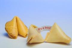 Biscuit de fortune - c'est un garçon Images stock