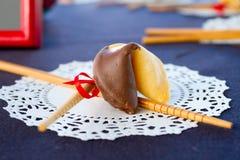 Biscuit de fortune de réception de mariage Photo libre de droits
