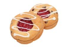 Biscuit de fraise Image libre de droits