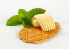 Biscuit de gaufre de beurre Photographie stock libre de droits