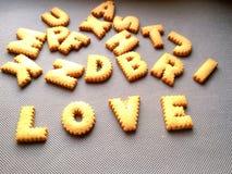 Biscuit de lettre Images stock