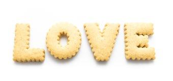 Biscuit de mot d'amour Image libre de droits