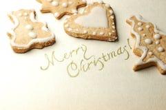 Biscuit de Noël Photographie stock libre de droits