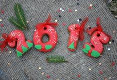 Biscuit 2015 de Noël Photo stock
