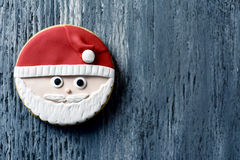 Biscuit de Noël sous forme de Santa Claus Images libres de droits