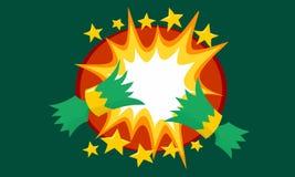 Biscuit de Noël tiré avec la bande dessinée Starburst instantané dans colourway vert illustration libre de droits