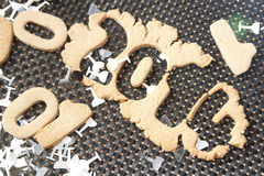 Biscuit 2014 de nouvelle année Image libre de droits