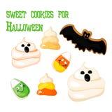 Biscuit de pain d'épice de Halloween sur le blanc illustration libre de droits