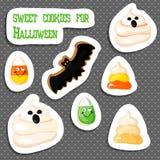 Biscuit de pain d'épice de Halloween sur le blanc illustration de vecteur