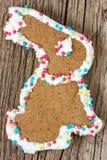Biscuit de pain d'épice de lapin de Pâques Images libres de droits