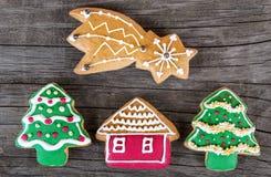 Biscuit de pain d'épice de Noël Photographie stock