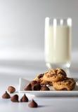 Biscuit de puce de chocolat Photos stock