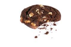 Biscuit de puce de chocolat blanc avec le dégagement image stock