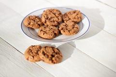 Biscuit de puces de chocolat Photographie stock libre de droits