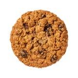 Biscuit de raisin sec de farine d'avoine d'isolement Photographie stock