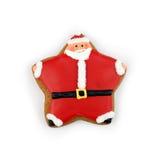 Biscuit de Santa Photographie stock libre de droits