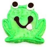 Biscuit de sucre de grenouille au-dessus de blanc Photographie stock libre de droits