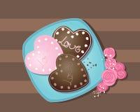 Biscuit de Valentine illustration de vecteur