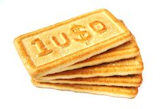 Biscuit dollars Stock Image