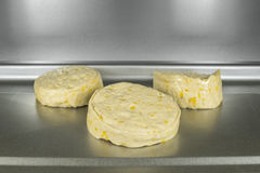 Biscuit Dough in Oven Macro Royalty Free Stock Image