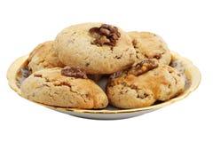 Biscuit doux avec la noix Photo libre de droits