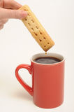 Biscuit dunking Royalty Free Stock Photos