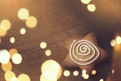 Biscuit en forme d'étoile Photographie stock libre de droits