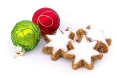 Biscuit en forme d'étoile de cannelle Photos stock