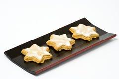 Biscuit en forme d'étoile de cannelle Images libres de droits