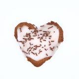 Biscuit en forme de coeur Photo stock