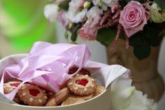 Biscuit en forme de coeur Photos libres de droits