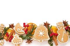 Biscuit et épice de pain d'épice Photos stock