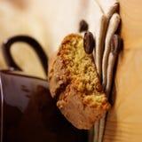 Biscuit et café d'amande photo libre de droits