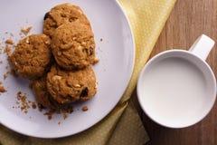 Biscuit et lait images libres de droits