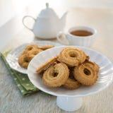 Biscuit et thé Photographie stock libre de droits
