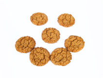 Biscuit face. Biscuit smiley face royalty free stock photography