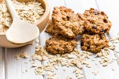 Biscuit fait maison avec des flocons d'avoine Images stock