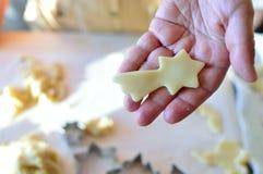 Biscuit fait maison d'étoile de Noël Photo stock