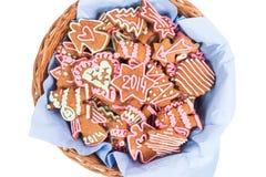 Biscuit fait maison de nouvelle année avec le nombre 2014 Images stock