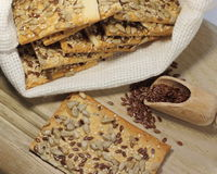 Biscuit with flax seeds Stock Image