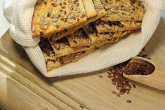 Biscuit with flax seeds Stock Photo