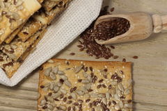 Biscuit with flax seeds Royalty Free Stock Images