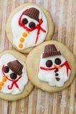 Biscuit fondu de bonhomme de neige Image stock