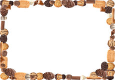Biscuit frame. Frame created with different types of biscuits Stock Photography