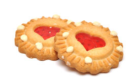 Biscuit with heart shaped center royalty free stock photo