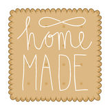 Biscuit with home made text Royalty Free Stock Images