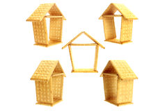 Biscuit house. Small house made by biscuit isolated on the white background Stock Photo