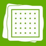 Biscuit icon green Stock Photos