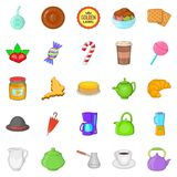 Biscuit icons set, cartoon style. Biscuit icons set. Cartoon set of 25 biscuit vector icons for web isolated on white background Royalty Free Stock Image