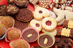 Biscuit. Image of sweet biscuits on a table royalty free stock images